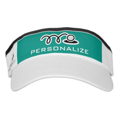 Personalized golf sun visor for men or women