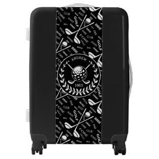 Personalized Golf themed designer Luggage