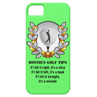 Personalized Golf Tip Golfer iPhone 5 Case