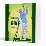 Personalized Golfer Golf photo album Binder
