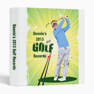 Personalized Golfer Golf Score Record Keeping Binder
