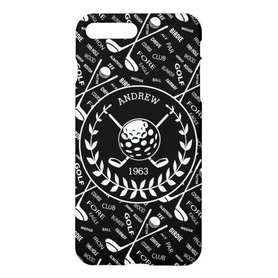 Personalized golfer stylish golf logo iPhone 8 plus/7 plus case