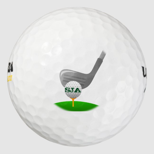 Personalized Golfing Golf Ball