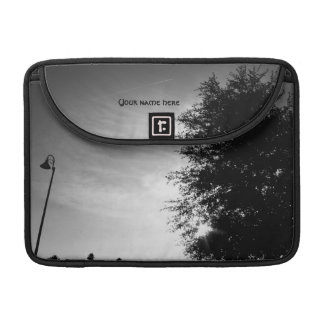 Personalized Good Morning - Black and White MacBook Pro Sleeve