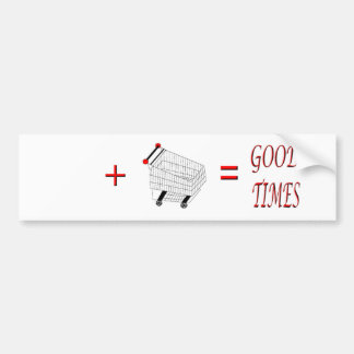 Personalized Good Times Shopping Bumper Sticker