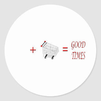 Personalized Good Times Shopping Classic Round Sticker