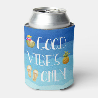 """Personalized """"Good Vibes Only"""" can cooler"""