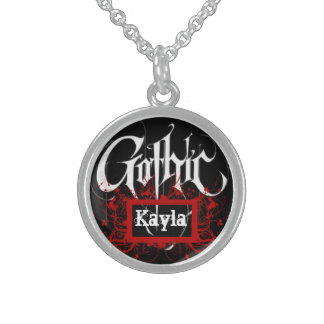 Personalized Gothic necklace