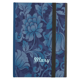 Personalized Graceful Blue Floral iPad Case