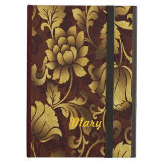 Personalized Graceful Brown Floral iPad Case