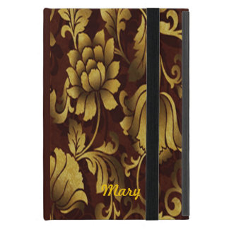 Personalized Graceful Brown Floral iPad Mini Case