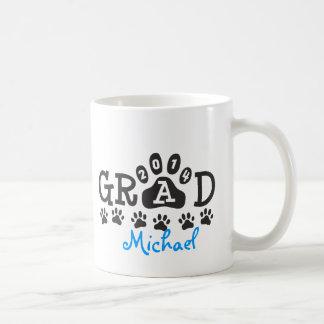 Personalized GRAD 2014 PAWS BLUE Graduation Mugs