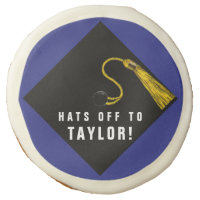 personalized graduate gift idea sugar cookie