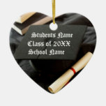 Personalized Graduation Cap and Diploma Christmas Ornament