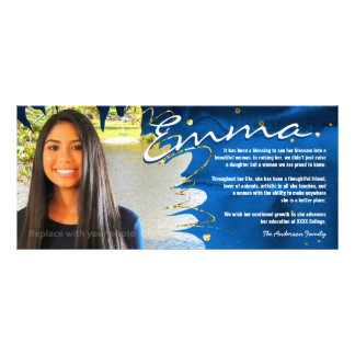 Personalized Graduation Cards | Blue & Gold