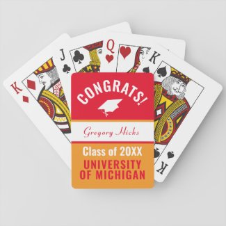 Personalized Graduation Class of 2020 Playing Cards