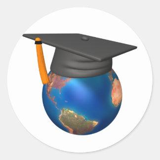 Personalized Graduation Classic Round Sticker