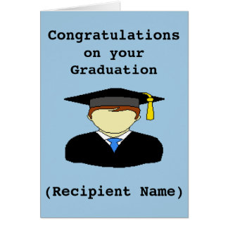 Personalized Graduation Congratulations Card