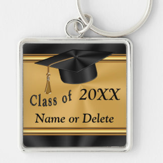 Personalized Graduation Keychain Gold and Black