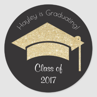 Personalized Graduation Stickers with Gold