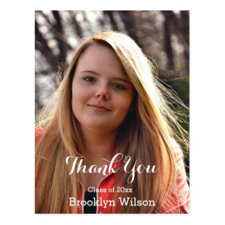 Personalized Graduation Thank You Postcards