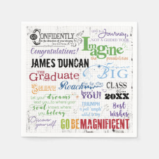 Personalized Graduation Word Art Napkin