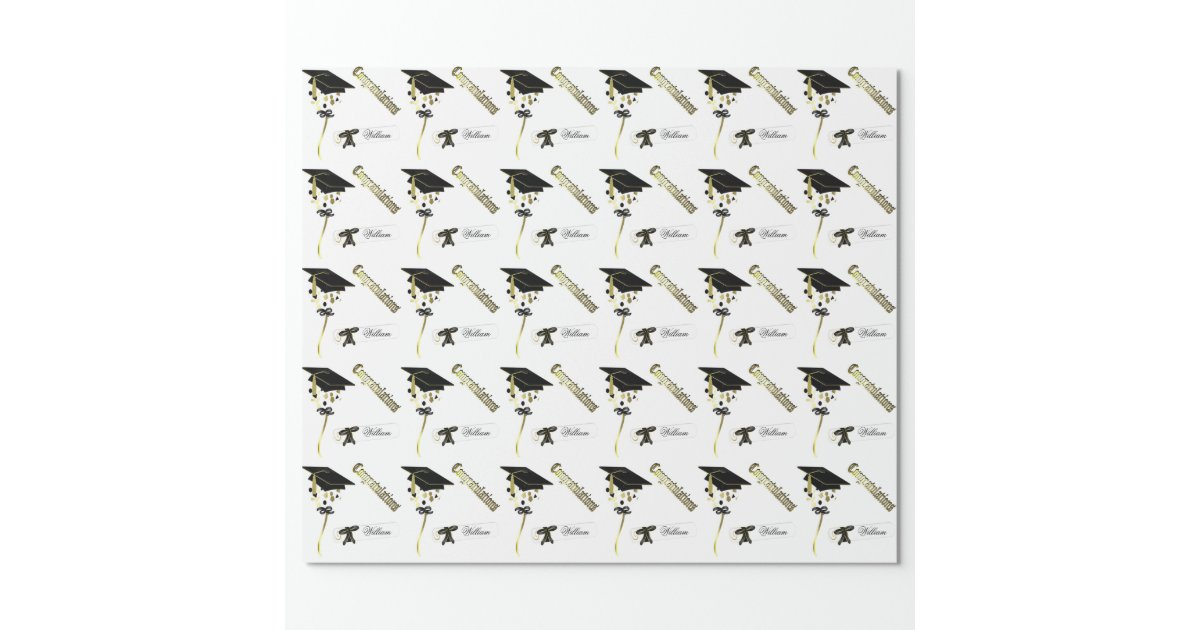 Personalized Graduation Wrapping Paper Zazzle