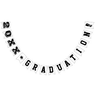 PERSONALIZED GRADUATION YEAR SIGN BUNTING FLAGS