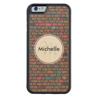 Personalized Graffiti Brick Wall Carved® Maple iPhone 6 Bumper Case