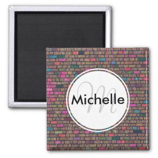 Personalized Graffiti Brick Wall Fridge Magnet