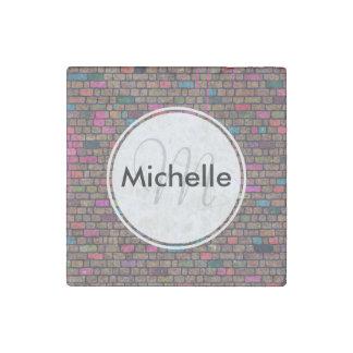 Personalized Graffiti Brick Wall Stone Magnet