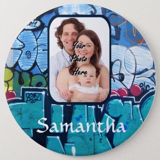 Personalized graffiti button