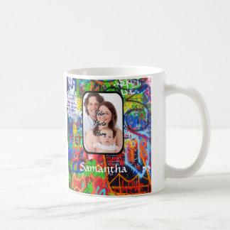 Personalized graffiti coffee mug
