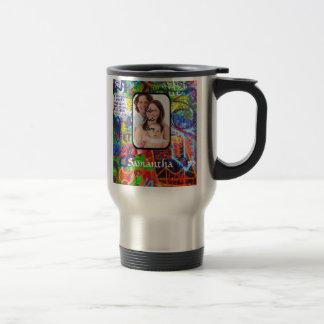 Personalized graffiti travel mug
