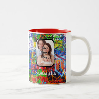 Personalized graffiti Two-Tone coffee mug
