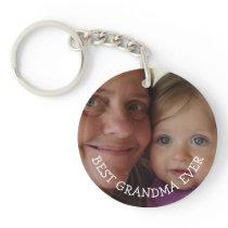 Personalized Grandma and Grandchild  Photo gift Keychain