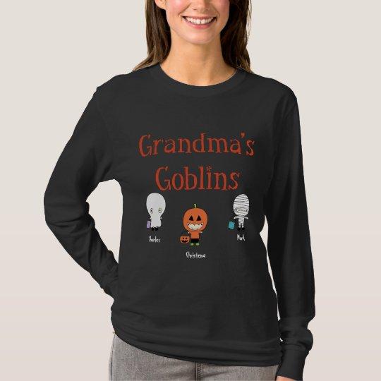 Personalized Grandma's Goblins T-Shirt