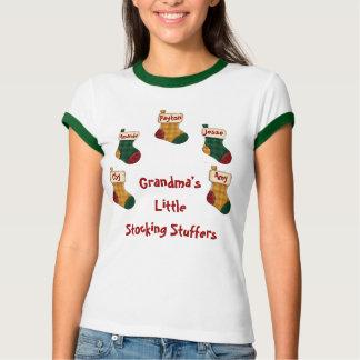 Personalized, Grandma's Little Stocking Stuffers T-Shirt