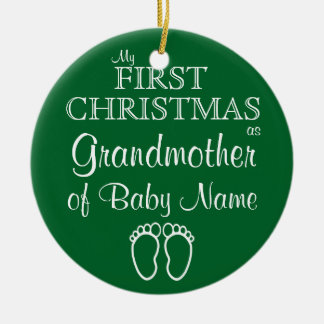 Personalized Grandmother First Christmas Ornament