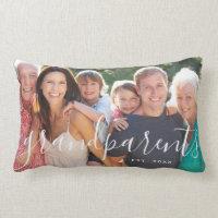 Personalized Grandparents Custom Photo Lumbar Pillow