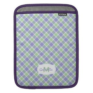 Personalized: Grapevine Plaid Macbook Sleeve