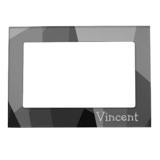 Personalized Gray Abstract Picture Frame Magnetic Frames