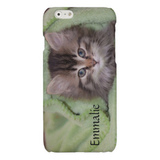 Personalized Gray Kitten iPhone6 Case
