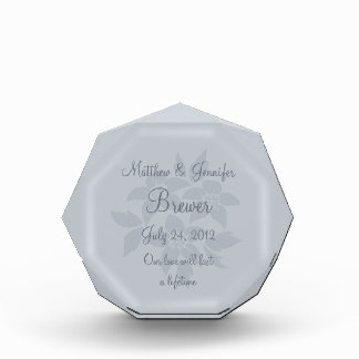 Personalized Gray Wedding Gift Memento Plaque