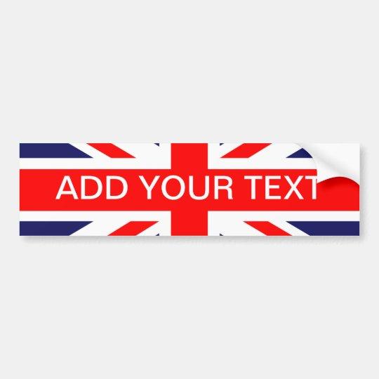 Personalized great britain flag bumper sticker