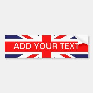 Personalized Great Britain Flag Car Bumper Sticker