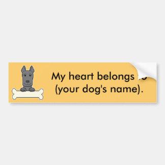 Personalized Great Dane Bumper Stickers
