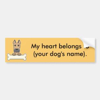 Personalized Great Dane Bumper Sticker