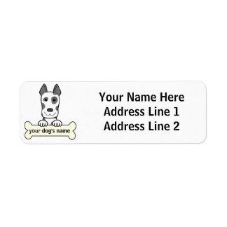 Personalized Great Dane Label