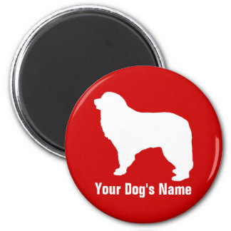 Personalized Great Pyrenees グレート・ピレニーズ 2 Inch Round Magnet